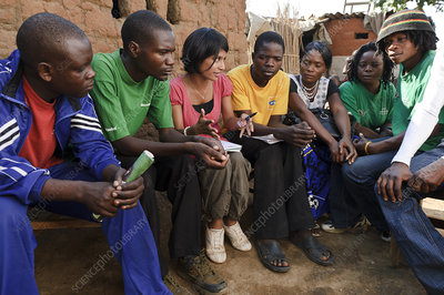 Zambian theatre group meeting