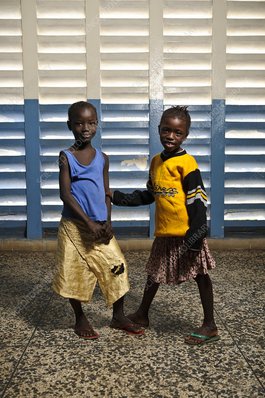 Young hospital patients, Sierra Leone
