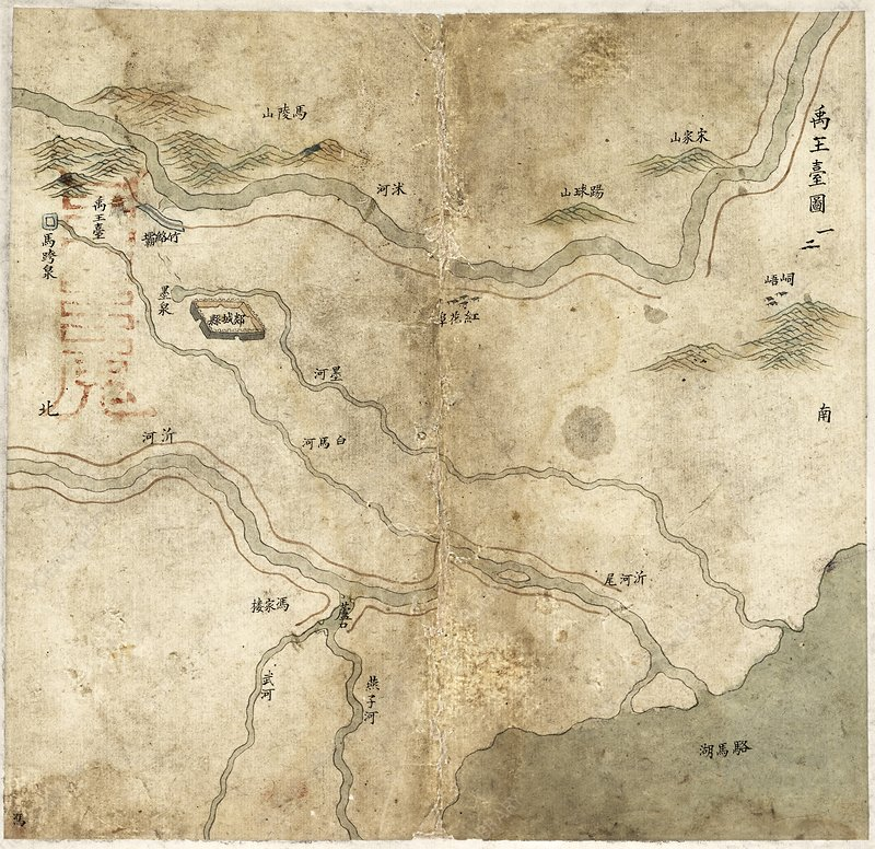 Chinese river embankments, 18th century