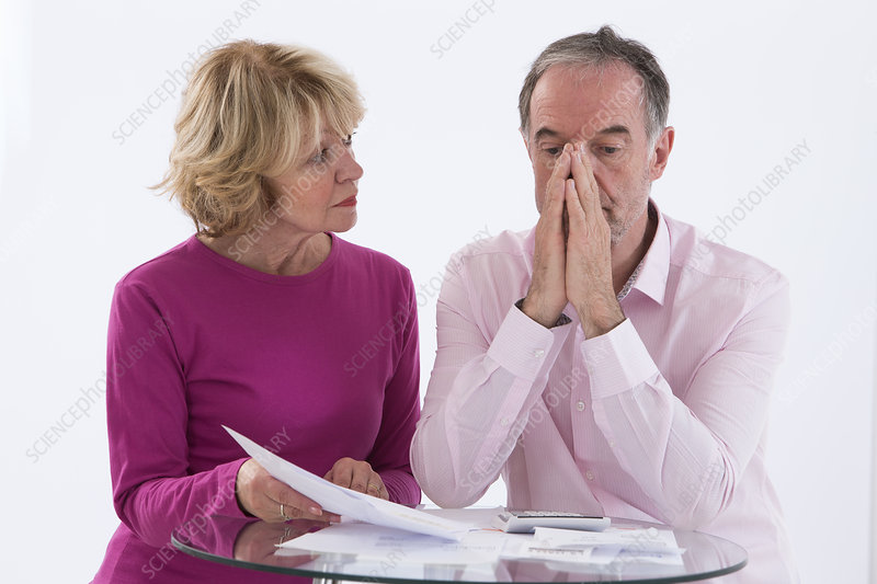 Couple doing paperwork
