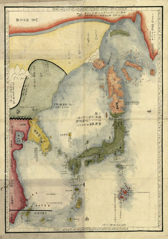 Map of Japan, 18th century