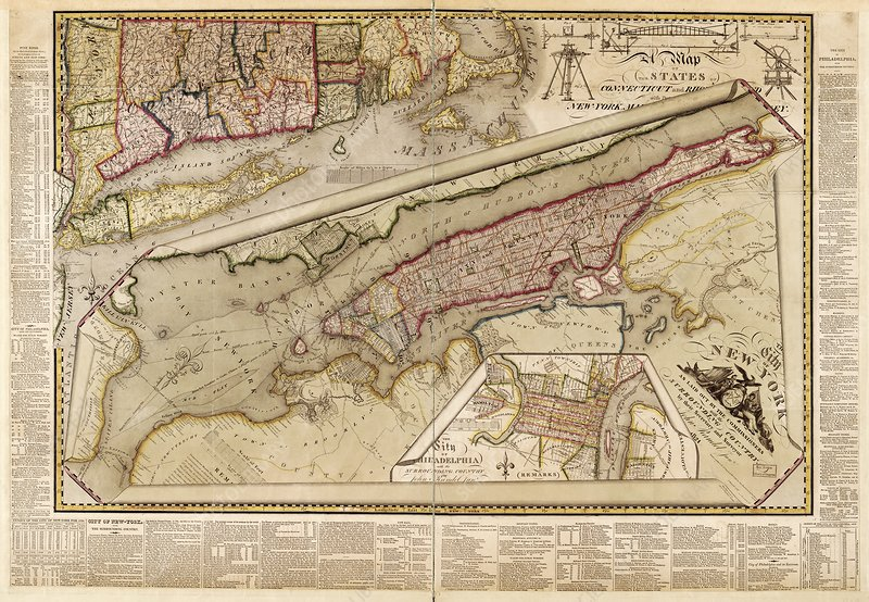 Map of New York City, 1821