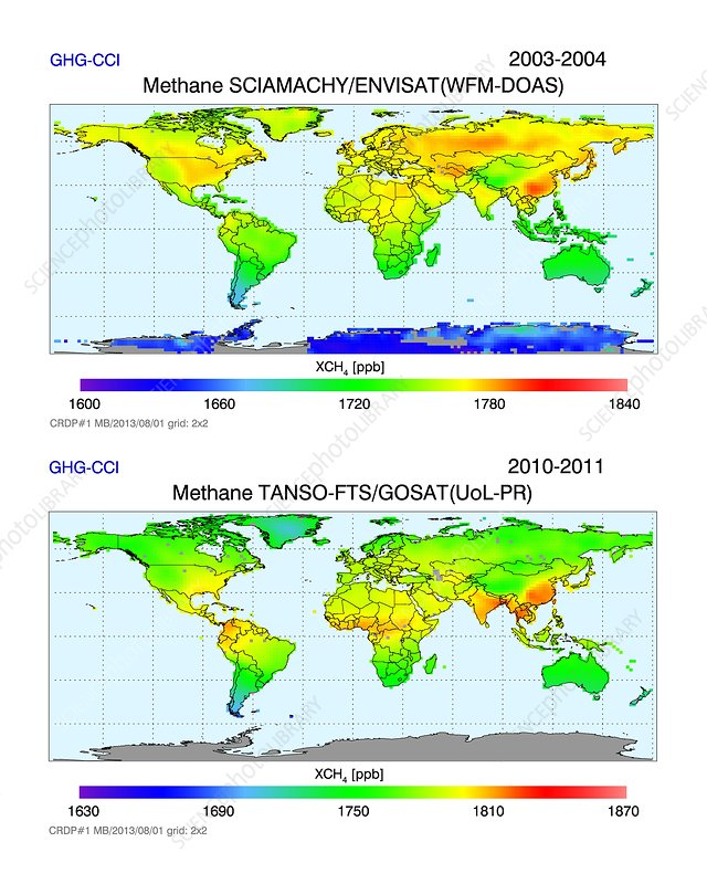 Global atmospheric methane