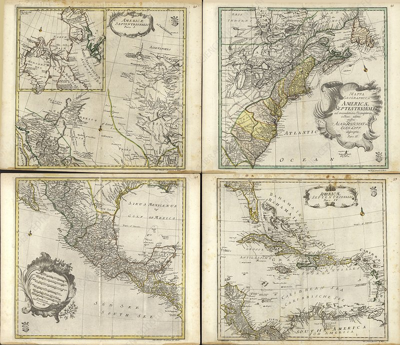 Maps of North America, 1760