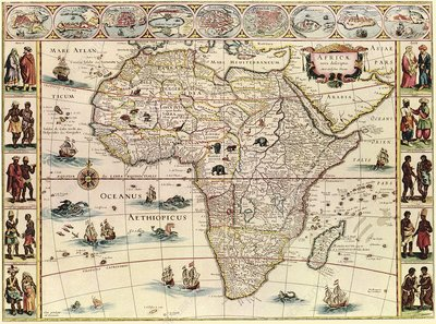 Map of Africa, 17th century