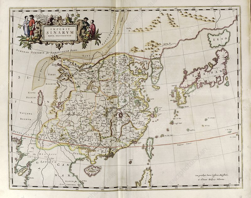Map of China, 17th century