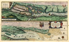 Map of the Elbe River, 17th century