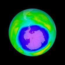 Antarctic ozone hole maximum, 2015