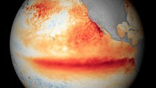 El Nino sea temperatures, October 2015