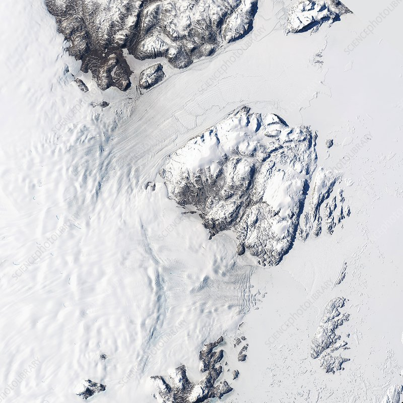 Melting Greenland glaciers, August 2014