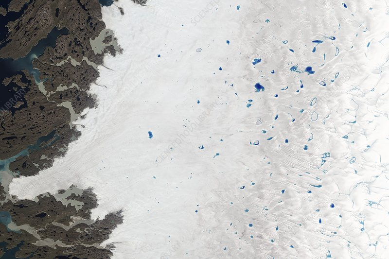 Meltwater lakes in Greenland, July 2015