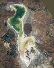 Lake Urmia, Iran, 2014, ISS photo