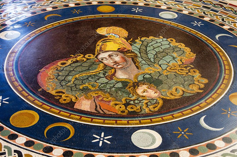 Marble mosaic In Vatican Museum.