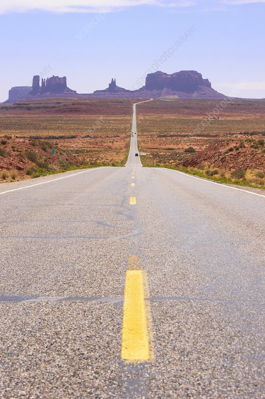 Road to Monument Valley.