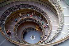 Vatican spiral staircase.
