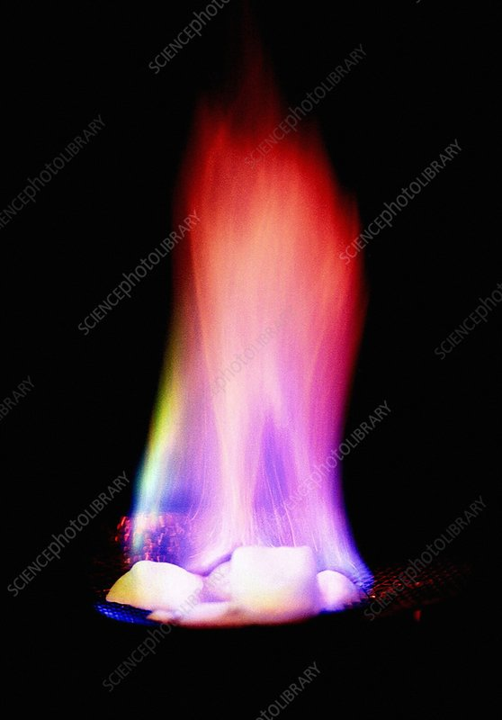 Burning methane hydrate