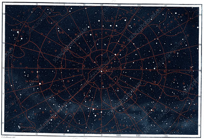 Boreal constellations, 1886 illustration