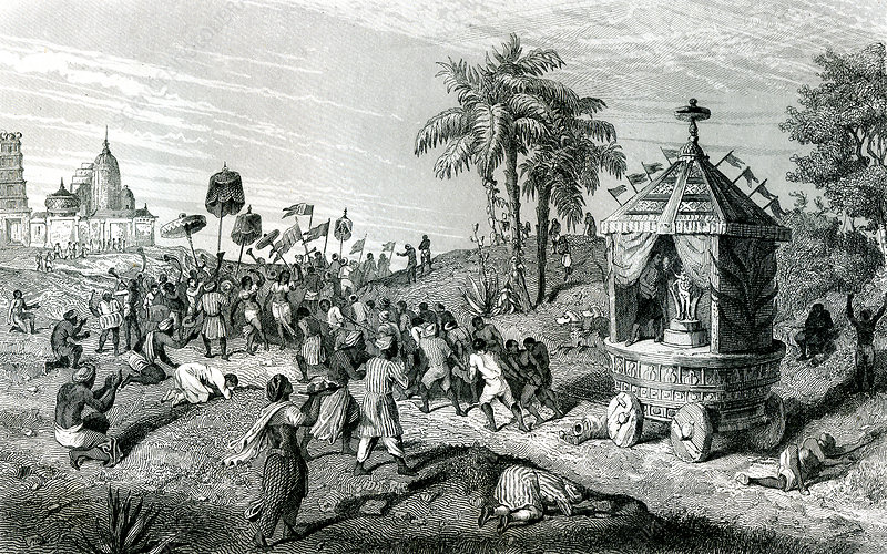 19th C Brahman ceremony, illustration