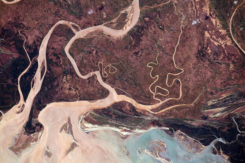 Tsiribihna River, Madagascar, ISS image