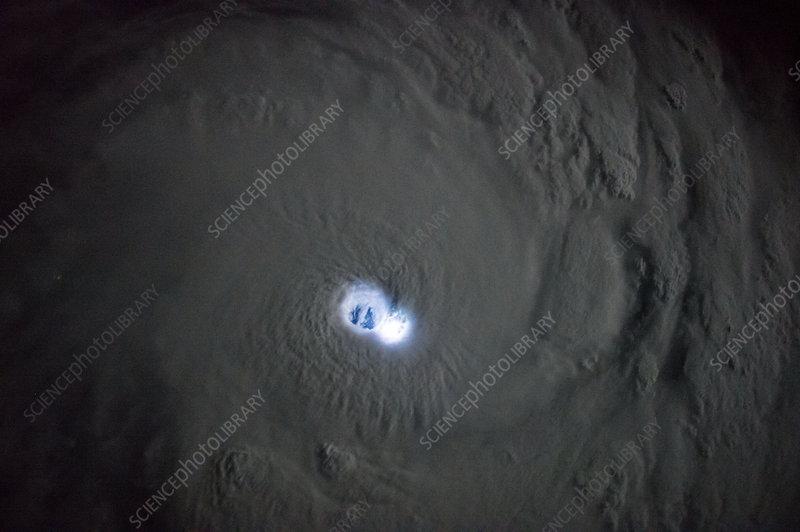 Cyclone Bansi, ISS image