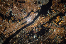New York at night, ISS image