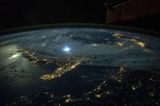 Balkans at night, ISS image