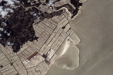 Fish farming, China, ISS image