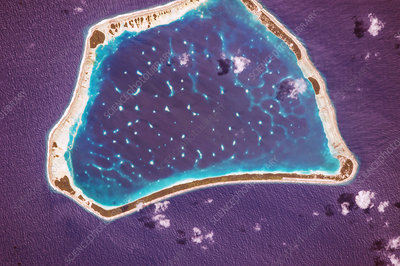 Manihiki Atoll, Cook Islands, ISS image