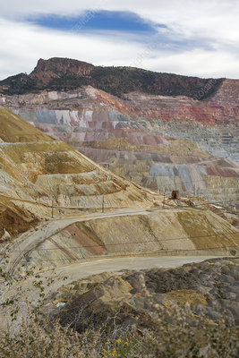 Open-cast copper mine, New Mexico, USA