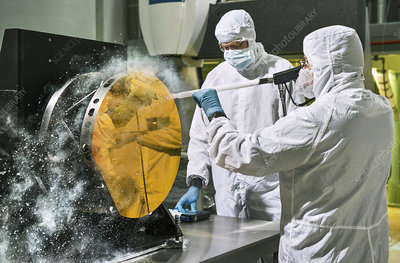 James Webb Space Telescope cleaning