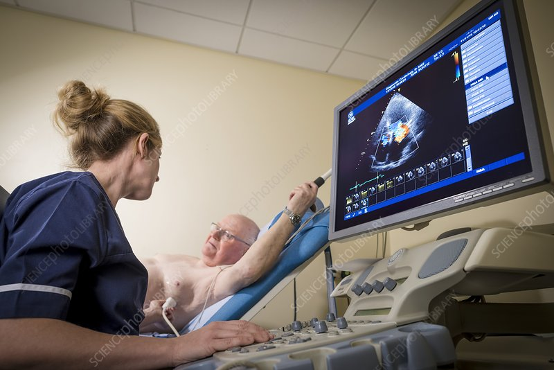 Doppler echocardiography test