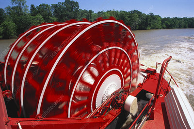 Paddle Wheel of the Delta Queen Steamboat
