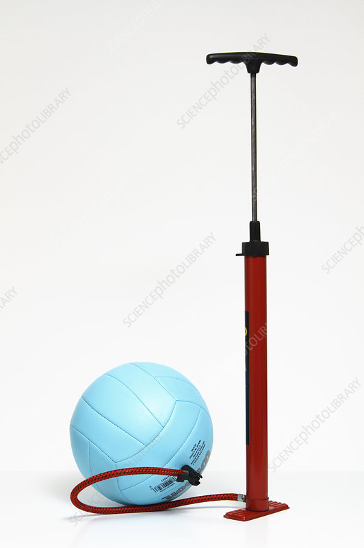 Stand pump attached to a ball