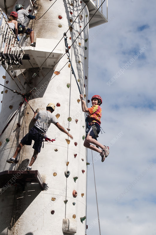 Rock Climbing and Rappelling Ropes Course