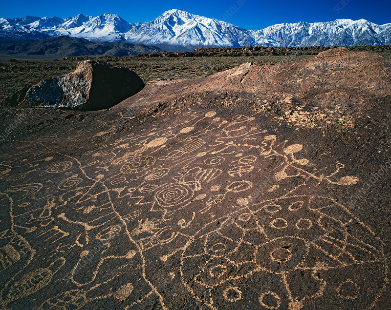 Petroglyphs, California