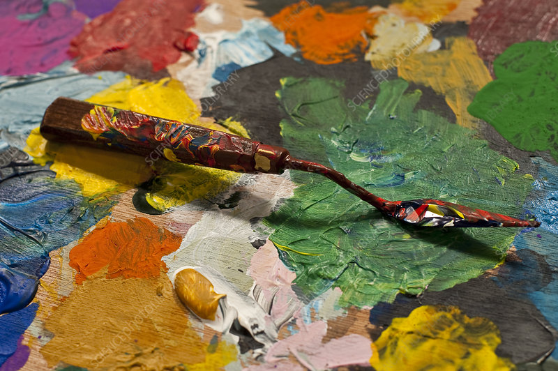 Artist Palette with Paint Knife