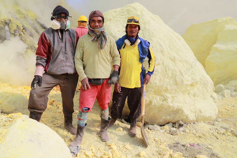 Men of the Sulphur Mine, Indonesia