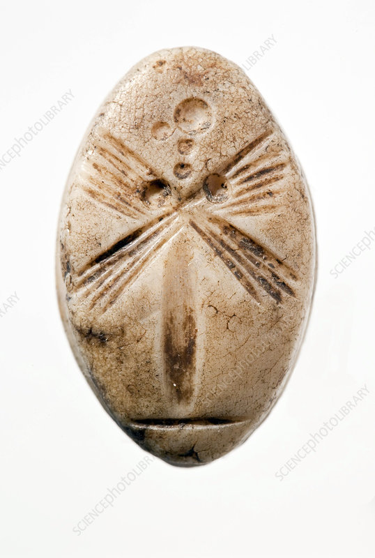 Marble Stamp Seal, 8th-7th Century BC