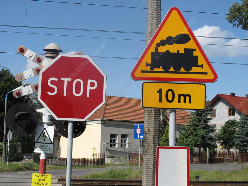Railroad Crossing Sign, Poland