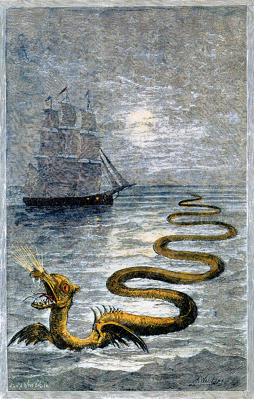 Sea Serpent, Legendary Creature - Stock Image - C027/4086 - Science Photo  Library