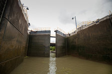 Open Lock on Erie Canal