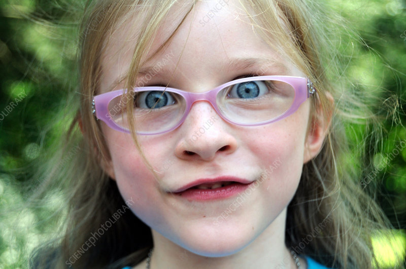Four Year Old Girl with Glasses