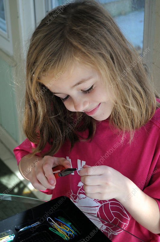 Girl Making Jewellery