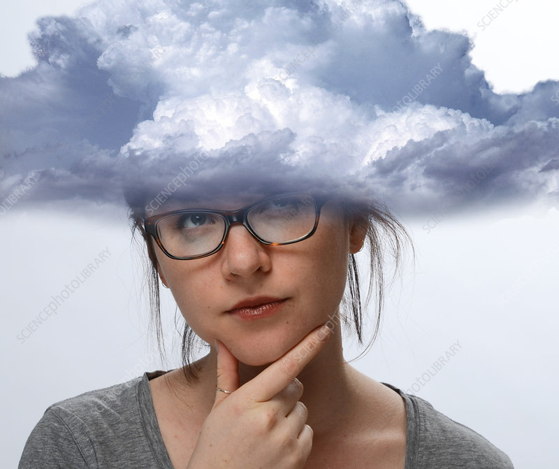 Woman with Head in the Clouds