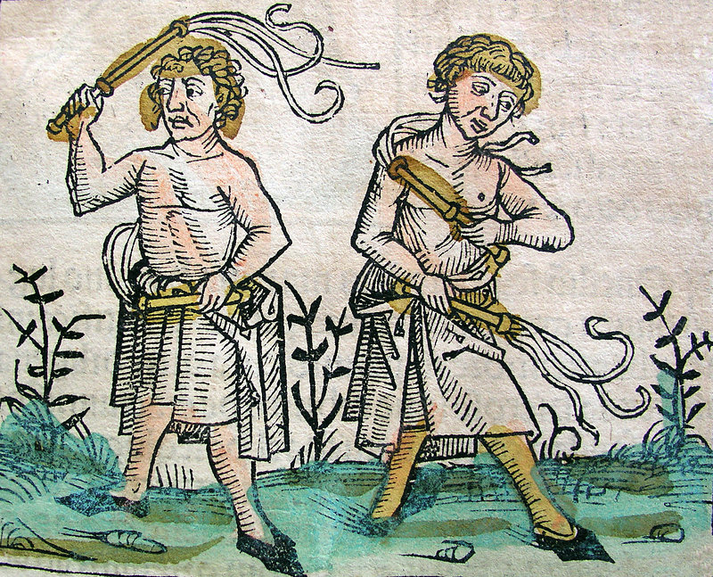 Flagellants, Nuremberg Chronicle, 1493