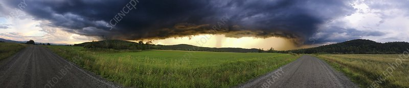 Storm clouds over Vermont, USA