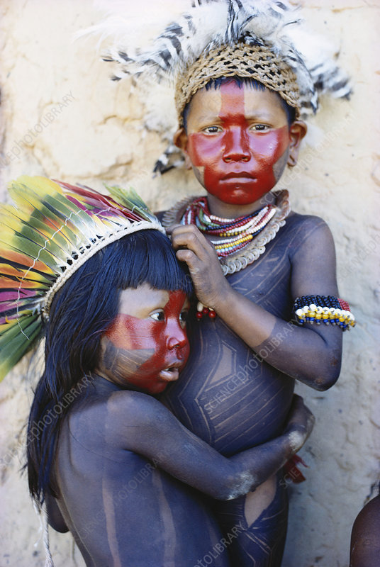 Caipo Indian Children, Brazil