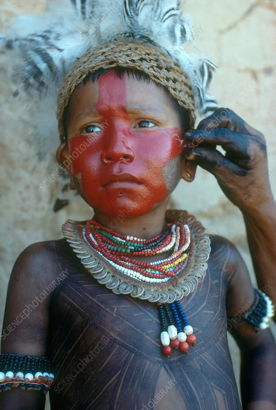 Caipo Indian Boy, Brazil