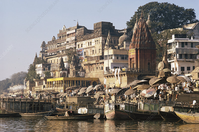 Bank of Ganges, Varanasi, Benares, India