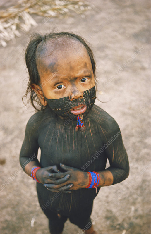 Xikrin Indian Child, Brazil